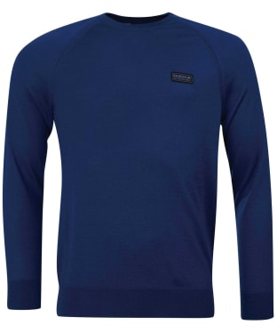 Men's Barbour International Absorb Merino Crew Sweater - Deep Blue