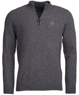 Men's Barbour Tisbury Half Zip Sweater - Grey