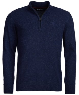 Men's Barbour Tisbury Half Zip Sweater - Navy