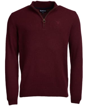 Men's Barbour Tisbury Half Zip Sweater - Ruby