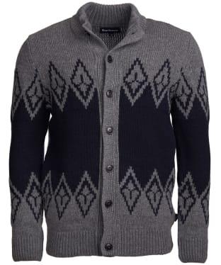 Men's Barbour Snowden Fairisle Zip Through Sweater - Storm Grey