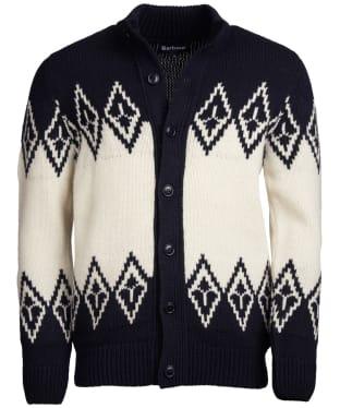 Men's Barbour Snowden Fairisle Zip Through Sweater - Navy