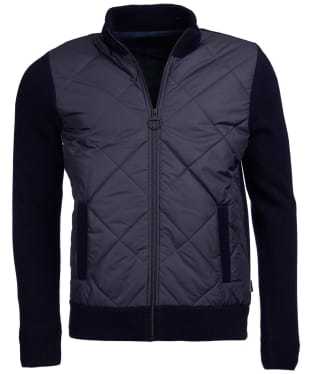 Men's Barbour Burneside Zip Through Knit Jacket - Navy