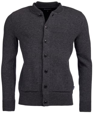 Men's Barbour Witton Button Through Knitted Jacket - Dark Grey