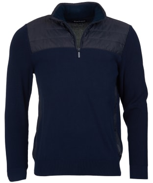 Men's Barbour Lundy Half Zip Sweater - Navy