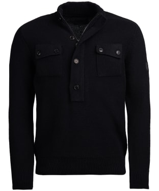 Men's Barbour International Calibrate Half Zip Sweater - Black