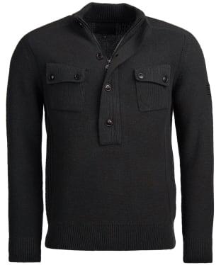 Men's Barbour International Calibrate Half Zip Sweater - Forest Marl