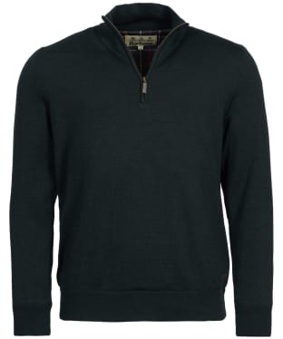 Men's Barbour Gamlan Half Zip Sweater - Olive