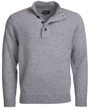 Men's Barbour Colton Half Zip Sweater - Grey Marl