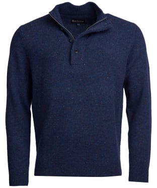 Men's Barbour Colton Half Zip Sweater - Indigo
