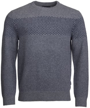 Men's Barbour Ridge Crew Neck Sweater - Grey Marl