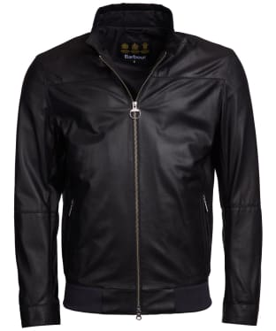 Men's Barbour Blundle Leather Jacket - Black