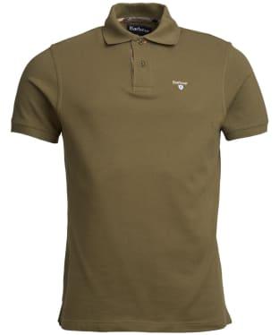 Men's Barbour Tartan Pique Polo Shirt - Ivy Green
