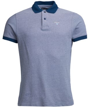 Men's Barbour Sports Polo Mix Shirt - Deep Sea