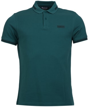 Men's Barbour International Essential Tipped Polo Shirt - Washed Green