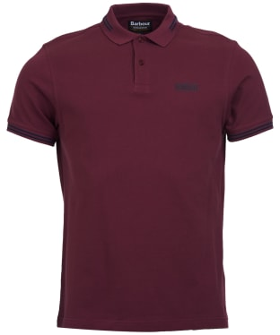 Men's Barbour International Essential Tipped Polo Shirt - Merlot