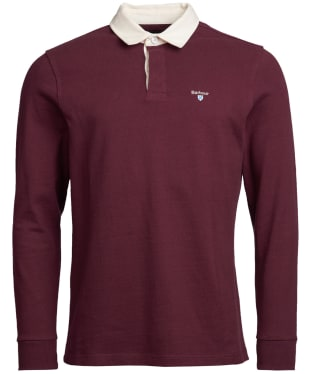 Men's Barbour Shield Rugby Shirt - Merlot
