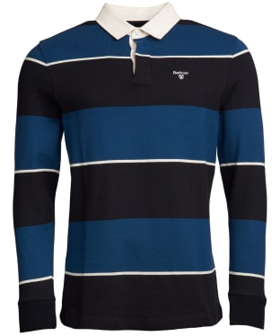 Men's Barbour Lark Stripe Rugby Shirt - Deep Sea