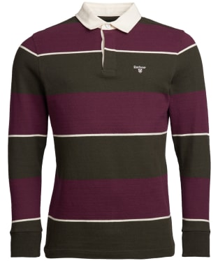 Men's Barbour Lark Stripe Rugby Shirt - Merlot