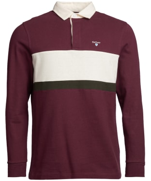 Men's Barbour Weston Panel Rugby Shirt - Merlot