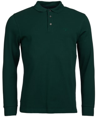 Men's Barbour Lydford Long Sleeved Polo Shirt - Seaweed