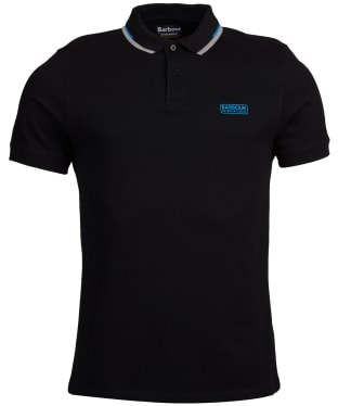 Men's Barbour International Twin Tipped Polo Shirt - Black