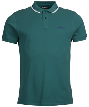 Men's Barbour International Twin Tipped Polo Shirt - Washed Green