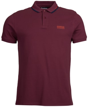 Men's Barbour International Twin Tipped Polo Shirt - Merlot