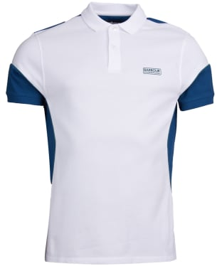 Men's Barbour International Block Polo Shirt - White