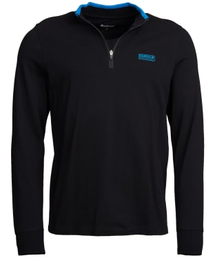 Men's Barbour International Bleaser Half Zip Sweater - Black