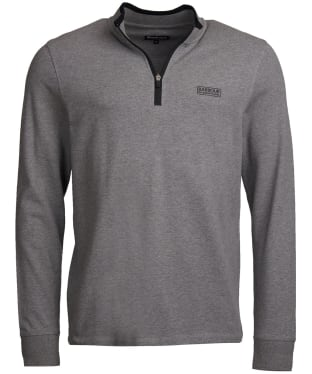 Men's Barbour International Bleaser Half Zip Sweater - Anthracite Marl