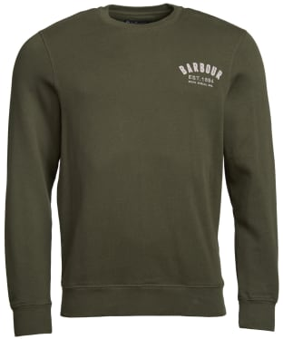 Men's Barbour Preppy Crew Sweatshirt - Dark Forest