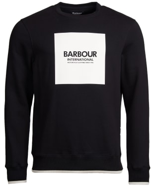 Men's Barbour International Scortch Crew Neck Sweater - Black