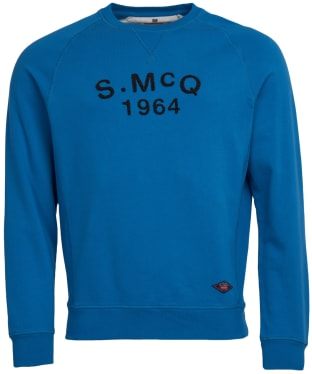 Men's Barbour International Steve McQueen Raceway Sweater - Mid Blue