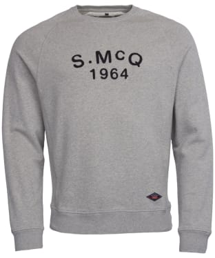 Men's Barbour International Steve McQueen Raceway Sweater - Grey Marl