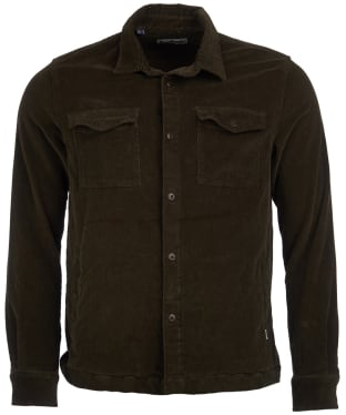 Men's Barbour Cord Overshirt - Olive