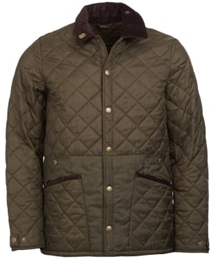 Men's Barbour Icons Liddesdale Quilted Jacket - Olive