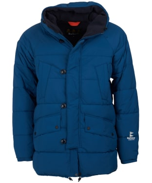 Men's Barbour Alpine Quilted Jacket - Peacock Blue