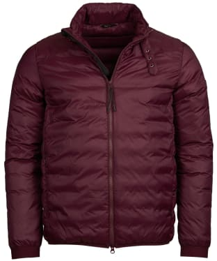 Men's Barbour International Dock Quilted Jacket - Merlot