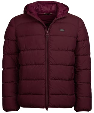 Men's Barbour International Court Quilted Jacket - Merlot