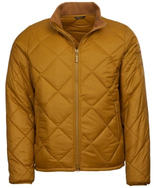 Men's Barbour Steve McQueen Kingman Quilted Jacket - Lunar Yellow