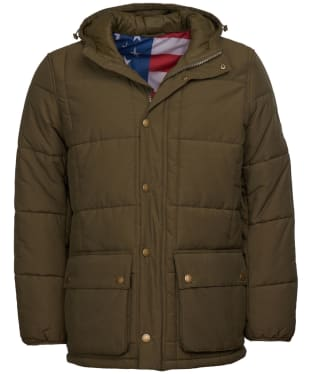 Men's Barbour Steve McQueen Goshen Quilted Jacket - Army Green
