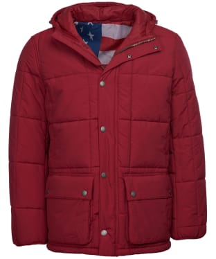 Men's Barbour Steve McQueen Goshen Quilted Jacket - Biking Red