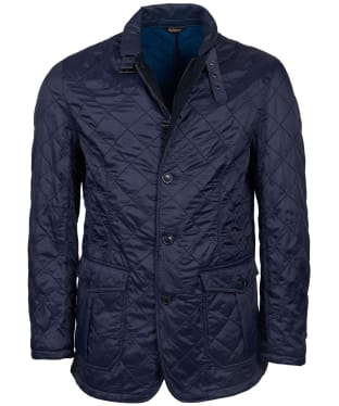 Men's Barbour Doister Polar Fleece Quilted Jacket - Navy