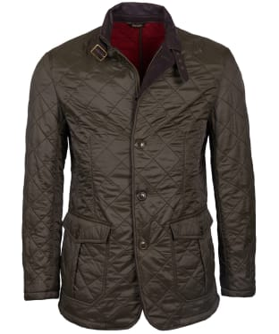 Men's Barbour Doister Polar Fleece Quilted Jacket - Olive