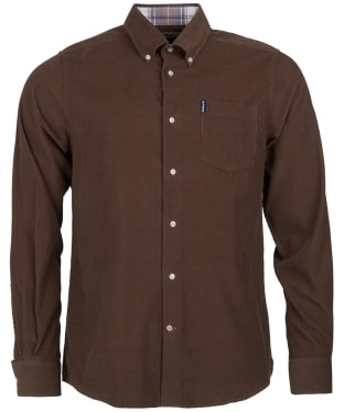 Men's Barbour Cord 1 Tailored Shirt - Brown
