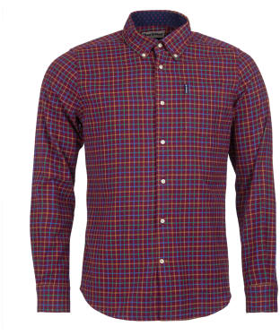 Men's Barbour Tattersall 7 Tailored Shirt - Burgundy Check