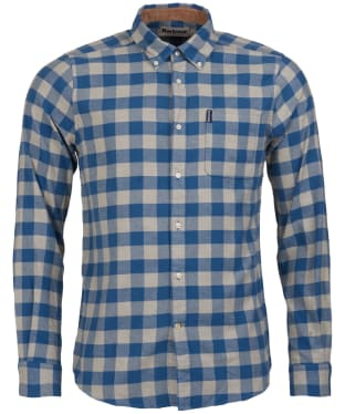 Men's Barbour Gingham 14 Tailored Shirt - Blue