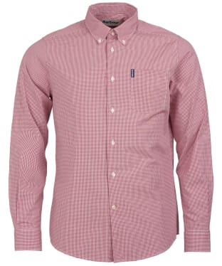 Men's Barbour Gingham 10 Tailored Shirt - Red