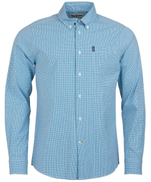 Men's Barbour Gingham 10 Tailored Shirt - Teal